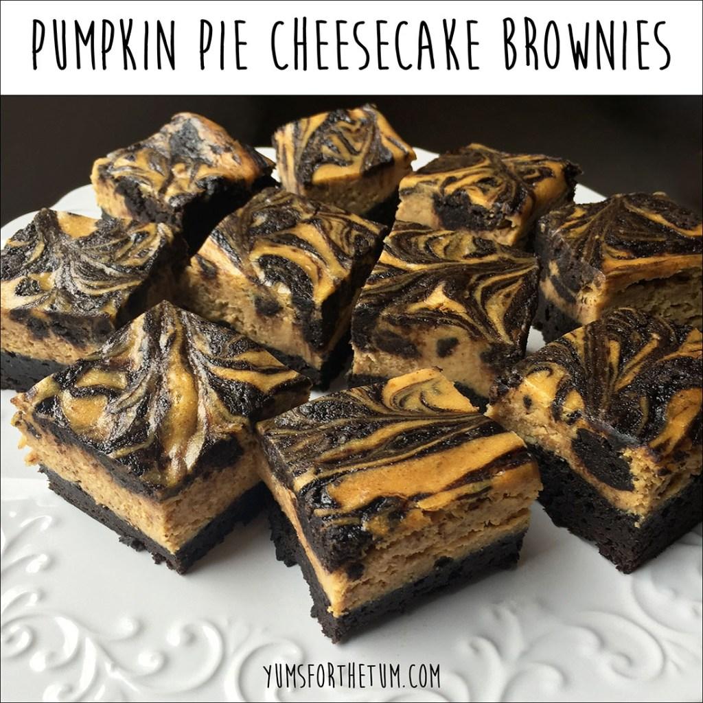 Pumpkin Pie Cheesecake Brownies