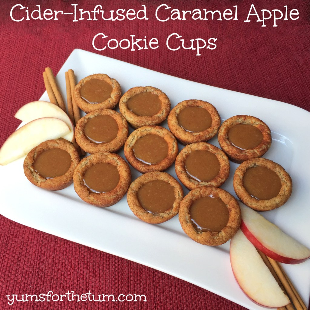 Cider-Infused Caramel Apple Cookie Cups
