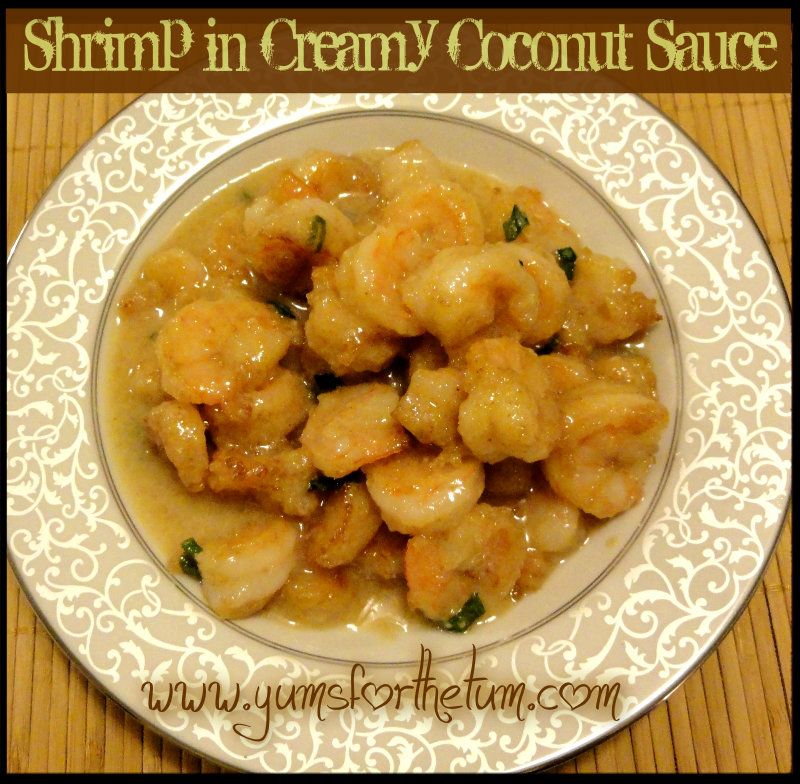 Shrimp in Creamy Coconut Sauce