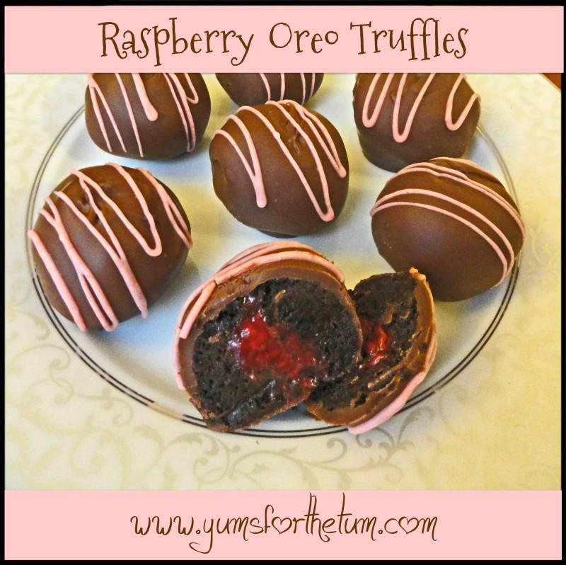 Raspberry Oreo Truffles