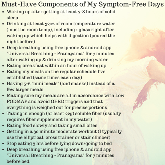 Key Elements of My Symptom-Free Days