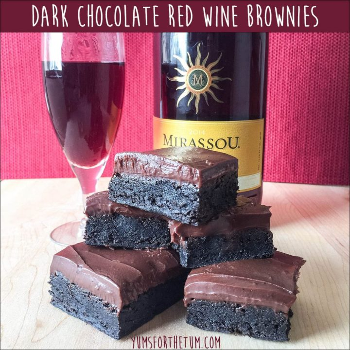 Dark Chocolate Red Wine Brownies