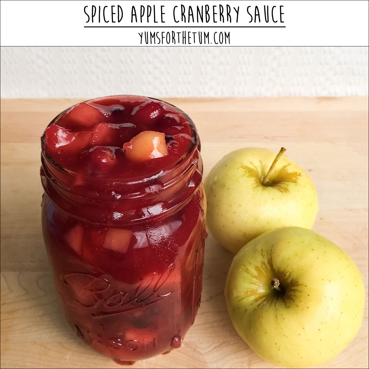 Spiced Apple Cranberry Sauce