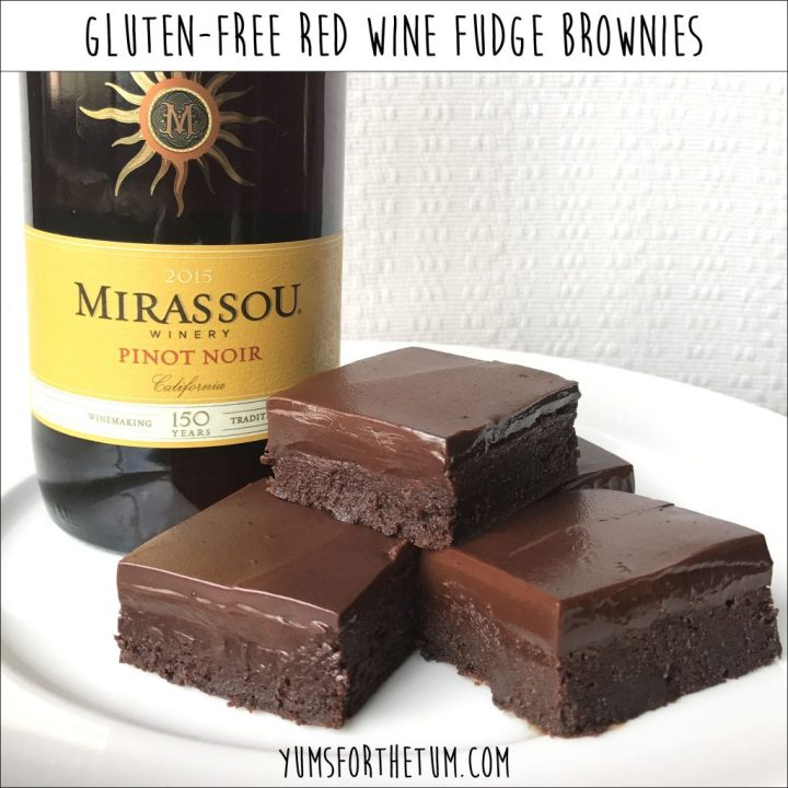 Gluten-Free Red Wine Fudge Brownies