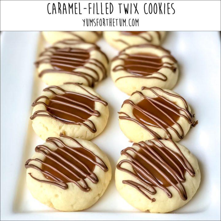 Caramel-Filled Twix Cookies