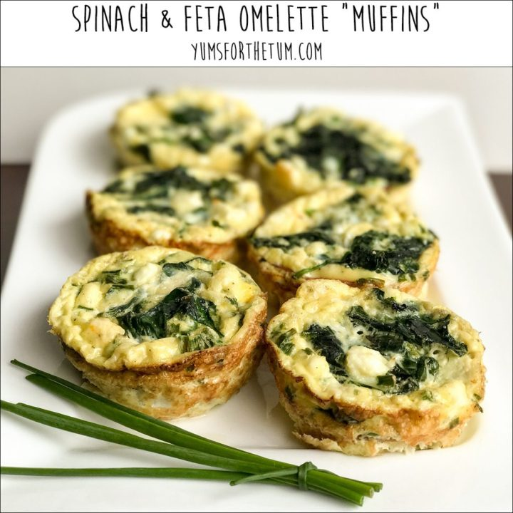 Spinach Feta Omelette Muffins