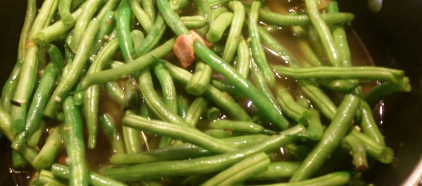 Gluten Free Organic  Paleo Old Fashioned Summer Green Beans