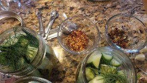 Refrigerator Pickles Prep