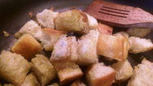 Panzanella Salad Bread Toasting