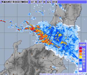 新潟 2014.7.9 大雨