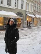 yo disfrutando de Brujas y de la nieve