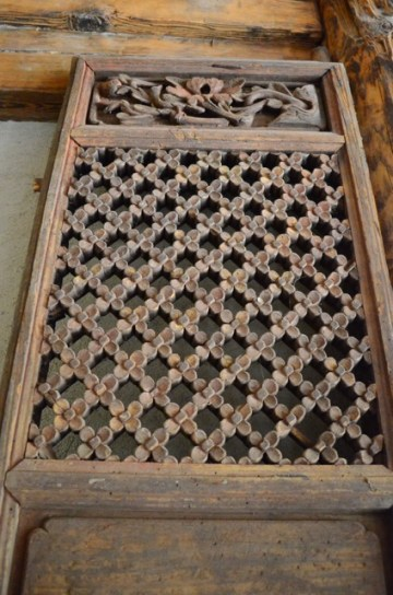 Wood Door Screen - Carved