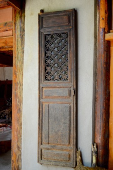 Village Wood Carved Door