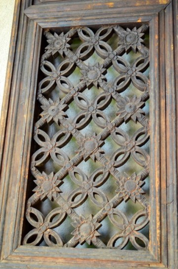Village Wood Screen - Carved