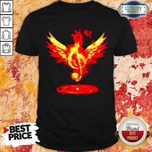 Anxious 5 Music Note Fire Angel Shirt