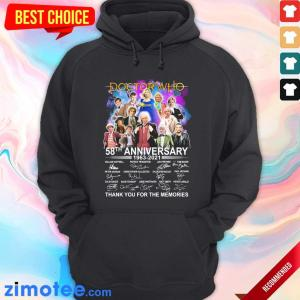 Happy Doctor Who Movies 58 Anniversary 1963 2021 Signatures Hoodie