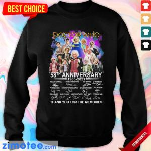Happy Doctor Who Movies 58 Anniversary 1963 2021 Signatures Sweater