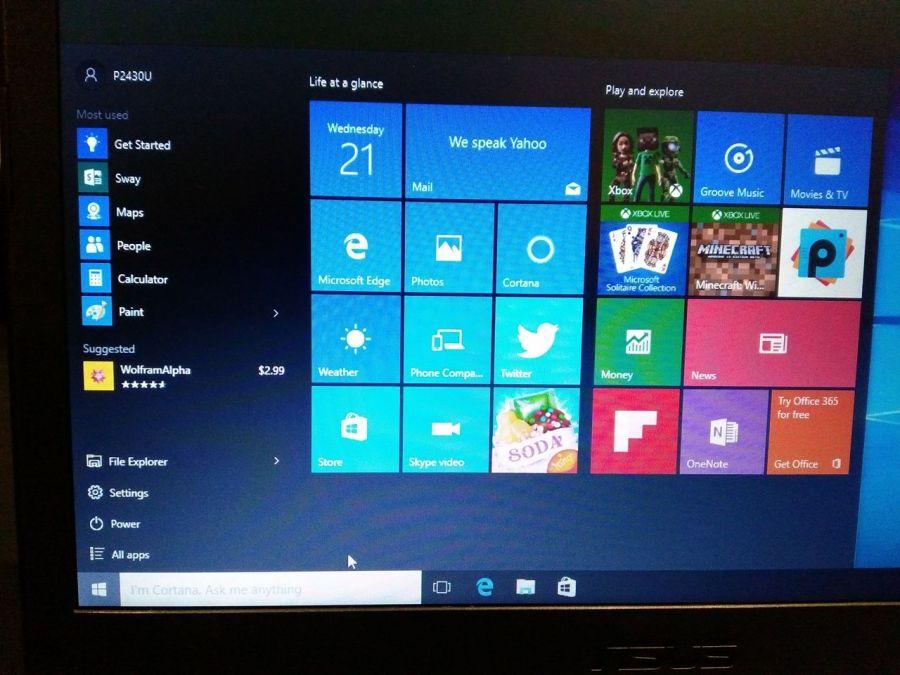 Tampilan Windows 10 dengan Preview