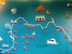 ケンティンダイビングスポット地図