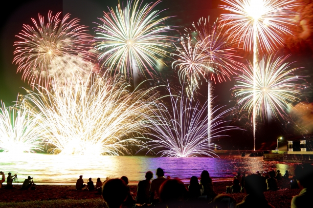 Fireworks display is one of the highlights of the summer in Japan.