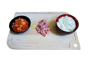 kimchi fried rice etape 1