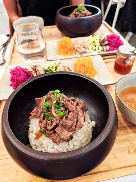 bibimbap au boeuf du restaurant coréen le gout de kyun