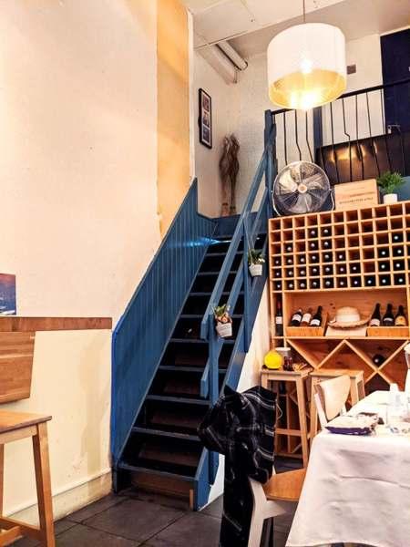 escalier du restaurant le gout de kyun
