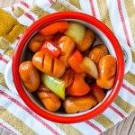 ganjang ssoya - légumes et saucisses sautées à la sauce soja