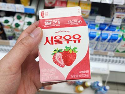 lait fraise d'un convenience store coréen