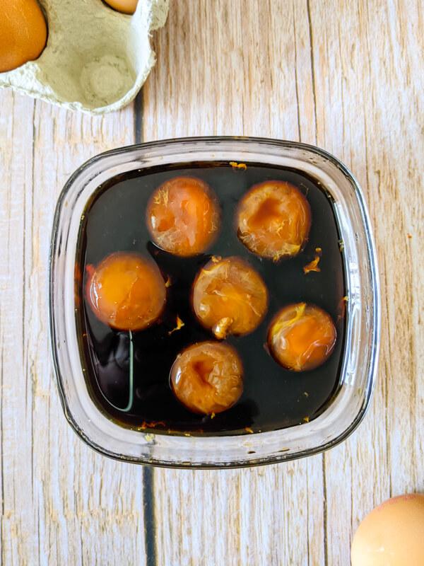 noreun jajang jaune d'oeufs marinés