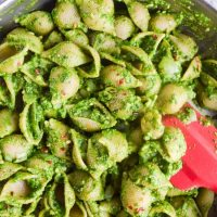 Easy Spinach Pesto Pasta