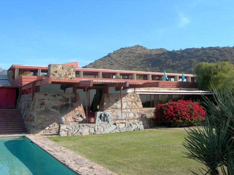 Frank Lloyd Wright's Taliesin West has a great genius loci.