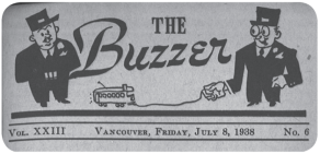 Masthead of the Buzzer from July 8, 1938