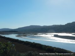 low, calm water Tomales Bay