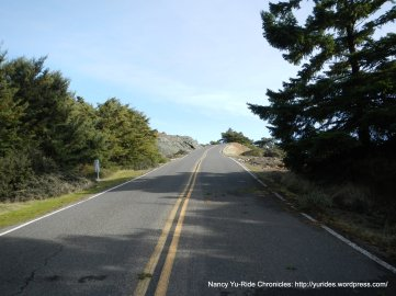 steep 13-15% climb on E Ridgecrest