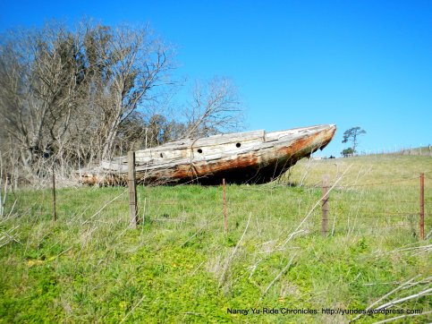 old boat on CA 1