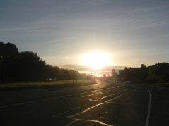 sunrise over Lucas valley Rd