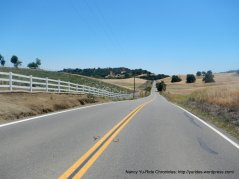 rolling climbs on Pleasants Valley Rd
