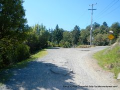 Summit Ave-loose gravel