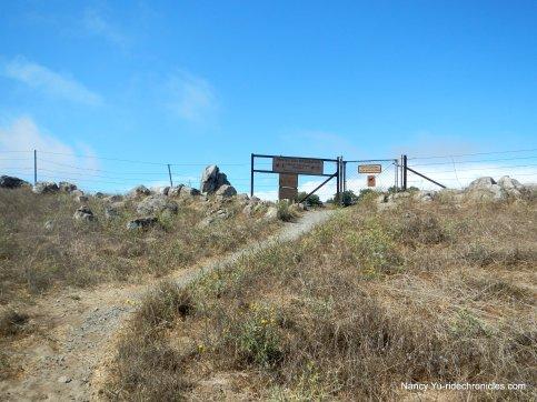to EBMUD trail gate-rocky ridge