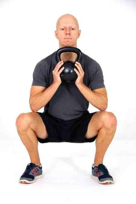 Best Fat Burning Leg Exercises - Front Goblet Squats