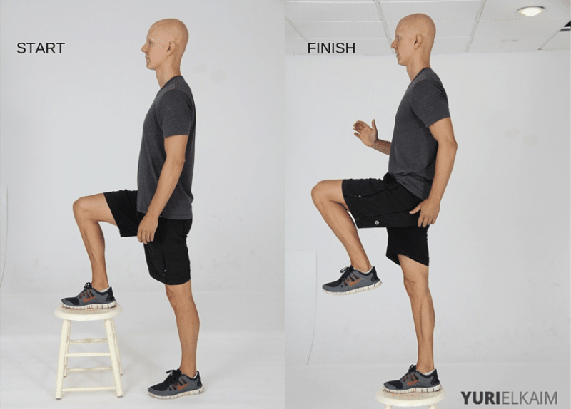 15 Best Bodyweight Exercises - Step Up Knee Drives
