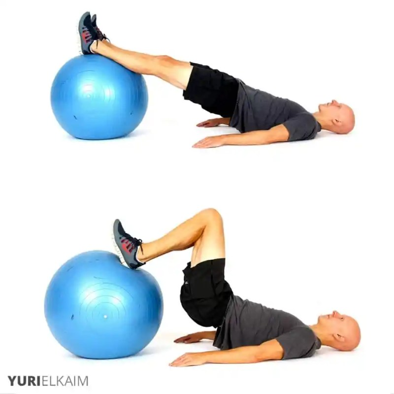 The Best Stability Ball Exercises for Core Training - Stability Ball Hamstring Roll-Ins
