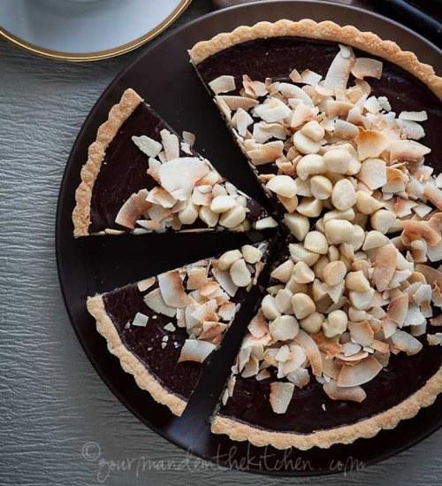 Chocolate Coconut Tart - Gourmande in the Kitchen
