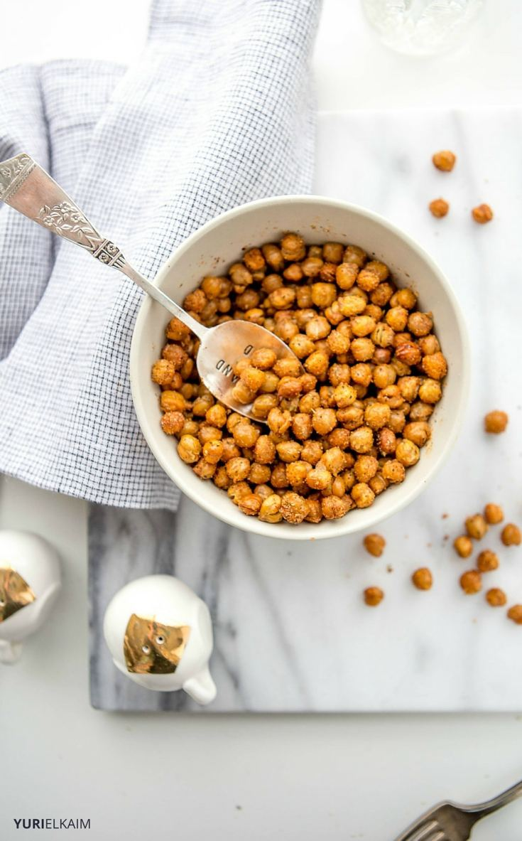 chickpeas, they taste great too. This simple oven-roasted chickpeas ...