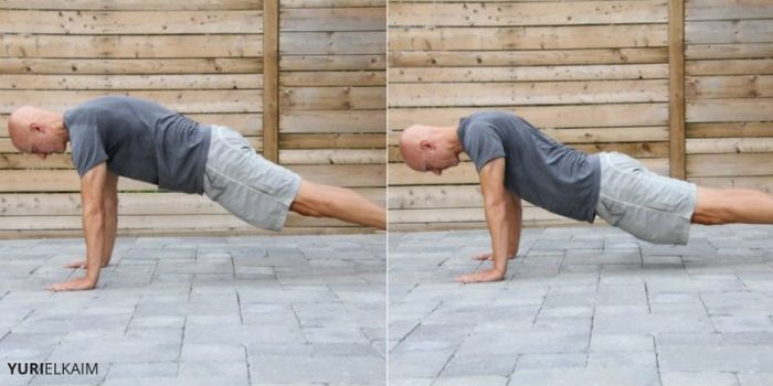 Scapular Push-ups Side View
