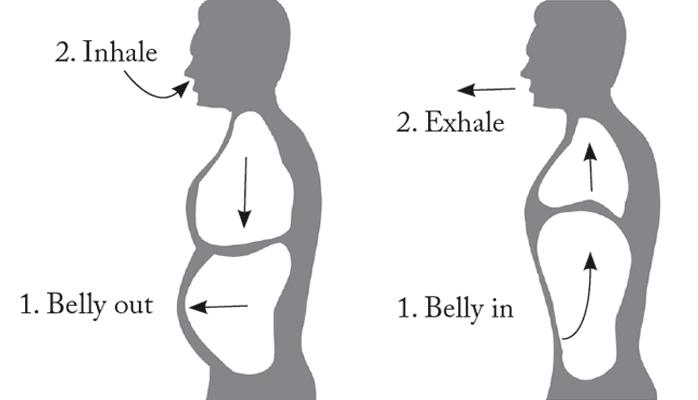تنفّس من البطن