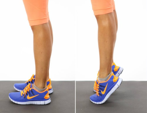 Exercises to Strengthen Knees - Heel Raises