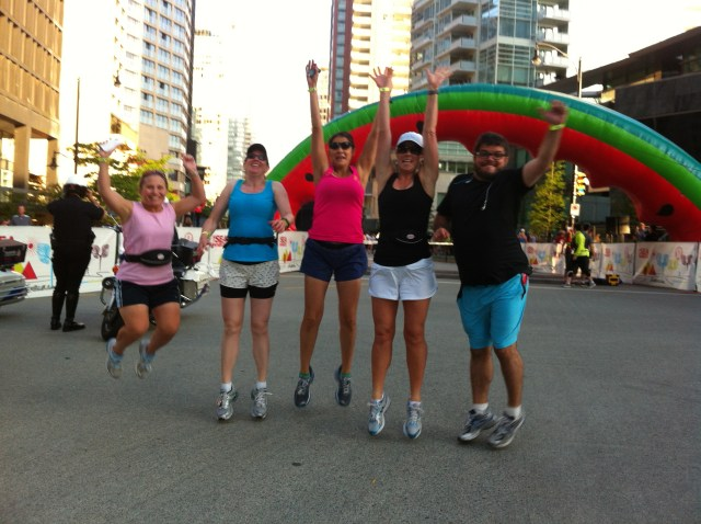 My running friends and I at SeaWheeze 2012