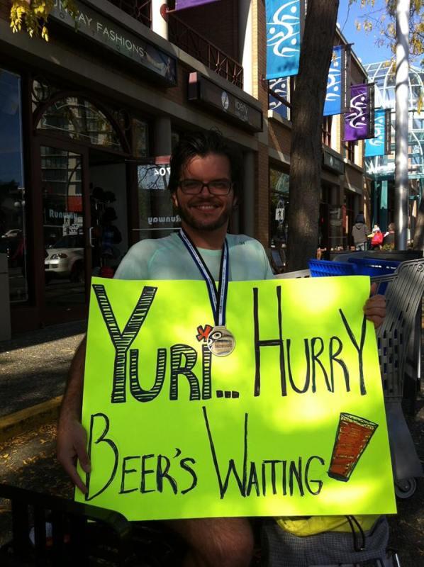 Yuri hurry, beer's waiting!